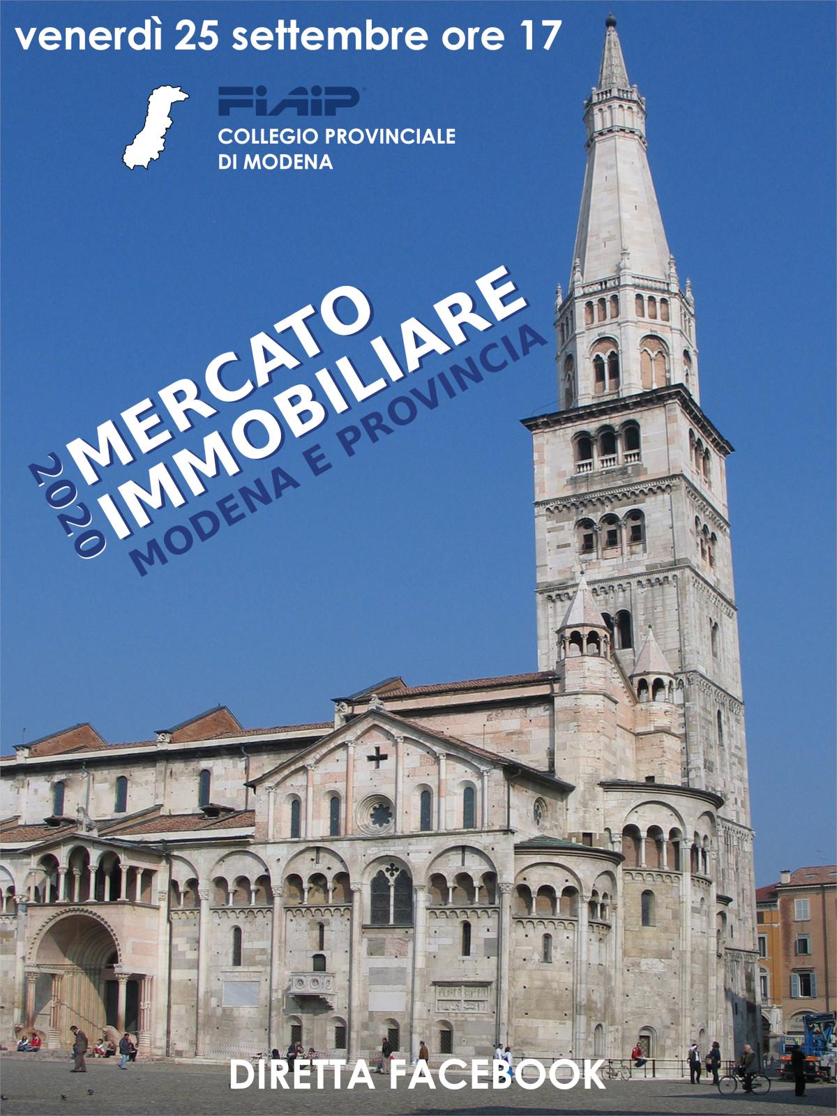 You are currently viewing MODENA – 25/09/2020 | Presentazione mercato immobiliare 2020