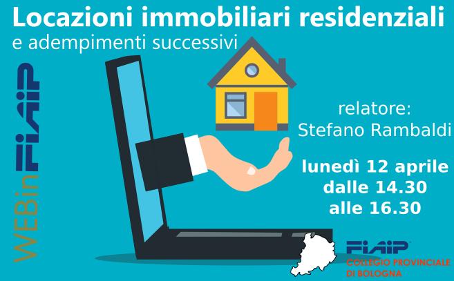 Read more about the article WebinFIAIP Bologna – 12/04/21   Locazioni immobiliari residenziali