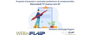 Read more about the article WEBINFIAIP ER – 17/03/2021 | Proposta d'acquisto – Preliminare di compravendita