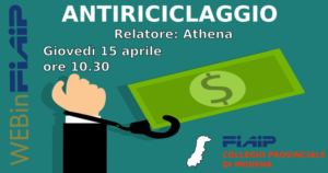 Read more about the article WebinFIAIP MODENA – 15/04/2021 | Antiriciclaggio