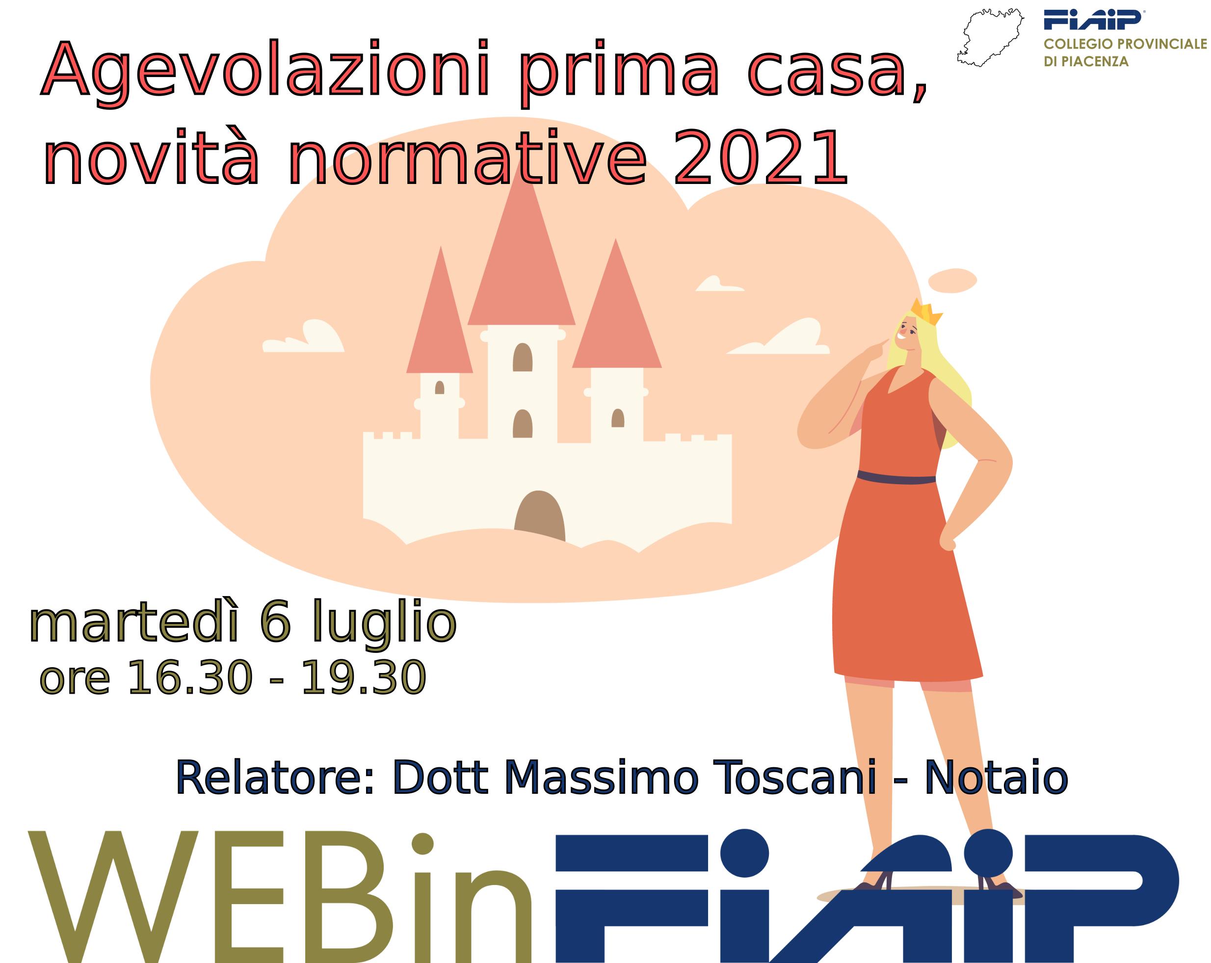 Read more about the article PIACENZA – 6/07/2021 | Agevolazioni prima casa e novità normative 2021