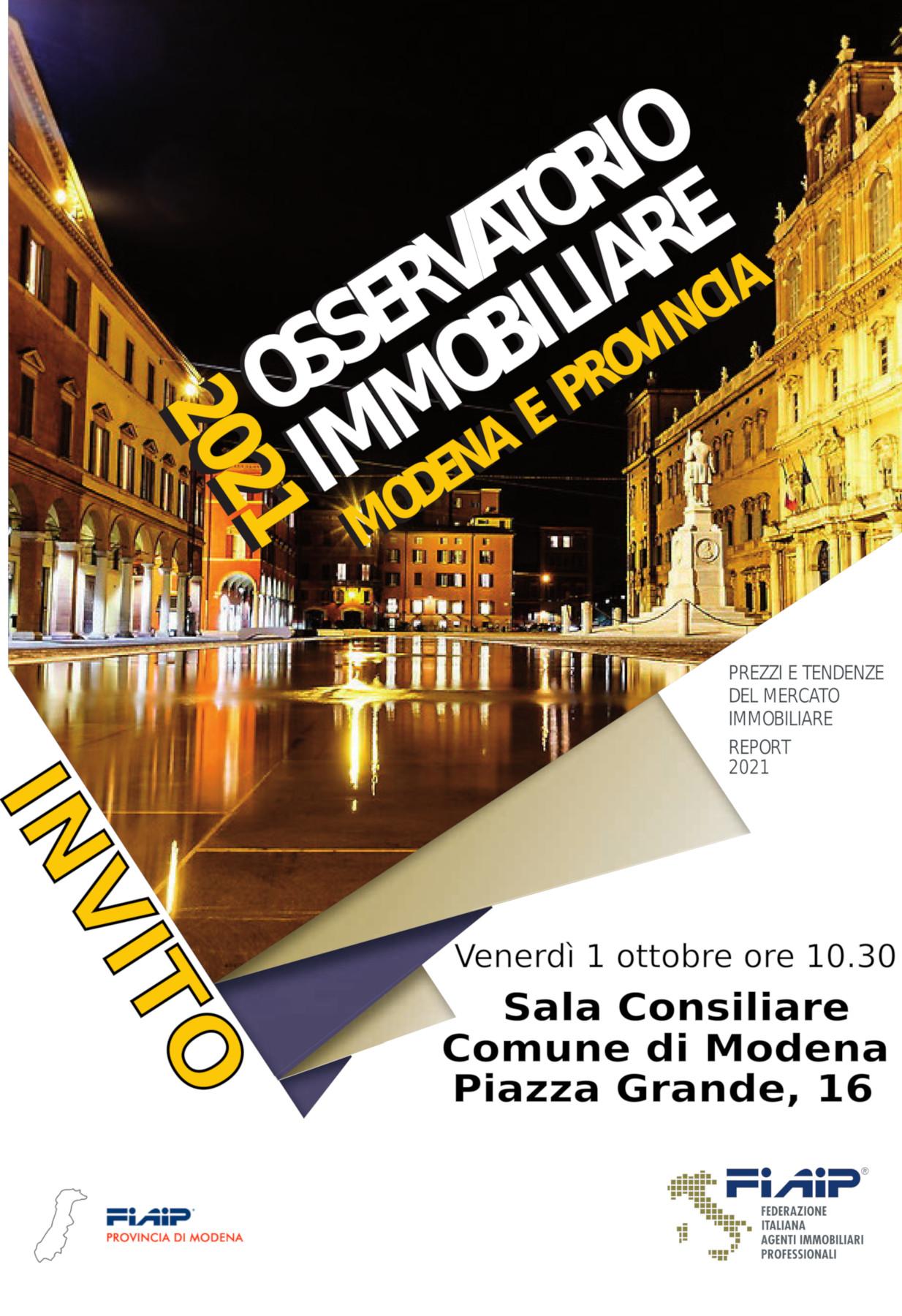 Read more about the article MODENA – 1/10/2021 | Presentazione Osservatorio Immobiliare 2021
