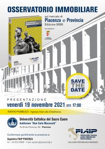 Read more about the article PIACENZA – 19/11/2021 | Presentazione Osservatorio  Immobiliare